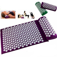 Acupressure  Yoga Mat With Pillow For Massage & Relaxation  in 4 Colors