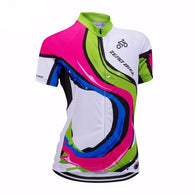 Zero Bike Colored Swirls Women's Short Sleeve Cycling Jersey in 4 Sizes - Joshua Tree Depot