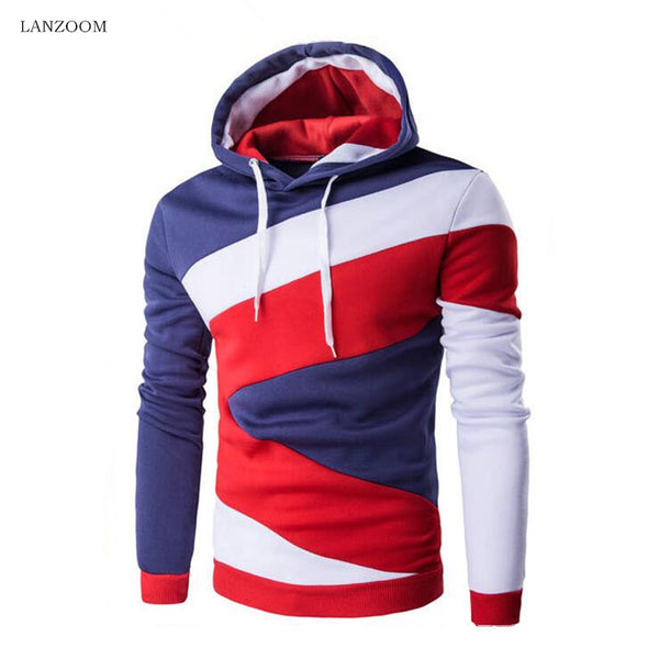 Color Banded Hoodie in 4 Colors - JoshuaTreeDepot
