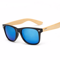 Retro Colored Bamboo Wood Sunglasses in 17 Colors