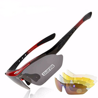 Polarized Sports Sunglasses With 5 Lenses in 4 Colors