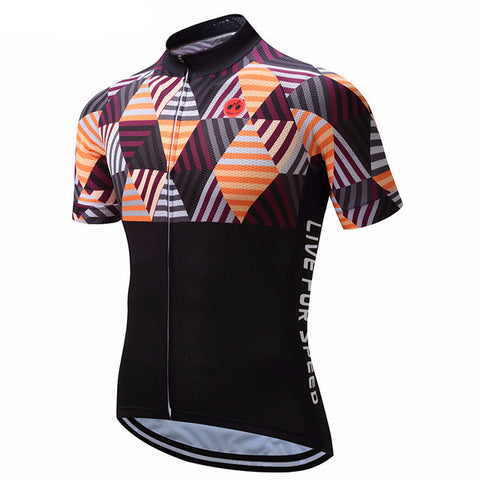 Weimostar Live For Speed Men's Short Sleeve Cycling Jersey in 6 Sizes