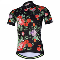 Aogda Flowers Men's Short Sleeve Cycling Jersey in 6 Sizes - Joshua Tree Depot