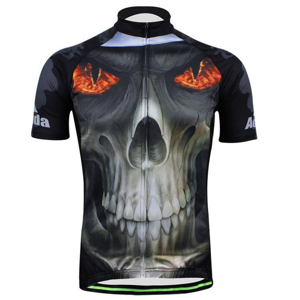 Aogda Fire Skull Men's Short Sleeve Cycling Jersey in 6 Sizes