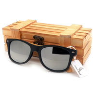 Contemporary Polarized Bamboo Wood Sunglasses in 4 Colors