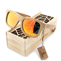Contemporary Handmade Polarized Bamboo Wood Sunglasses in 6 Colors