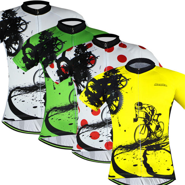 Aogda Bike Team Men's Short Sleeve Cycling Jersey in 6 Sizes & 4 Colors