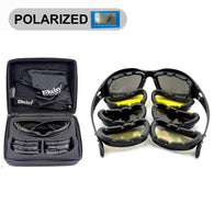 Daisy C5 Polarized Tactical Sunglasses 4 Lens Kit With Bag, Strap & Hard Case. Available All Non-Polarized Lens Or With  3 Non-Polarized & 1 Polarized. - JoshuaTreeDepot