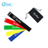 3, 4 or 5 Piece Natural Latex Resistance Band Set