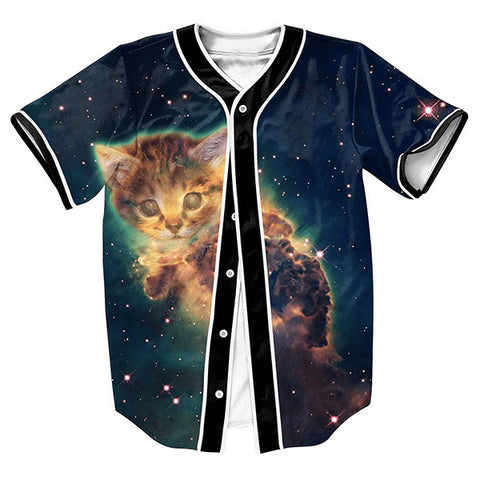 Space Kitten Baseball Jersey - Joshua Tree Depot