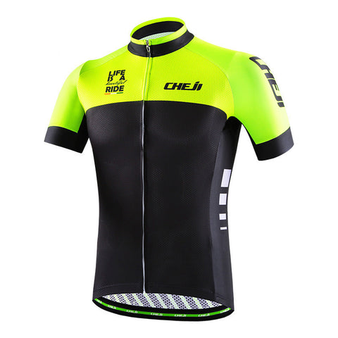 Cheji Life is a Beautiful Ride Men's Short Sleeve Cycling Jersey in 6 Sizes - Joshua Tree Depot