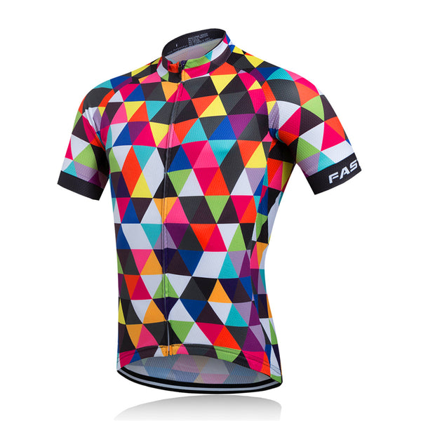 Fastcute Pied Men's Short Sleeve Cycling Jersey in 8 Sizes