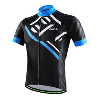 Cheji Black & Blue Men's Short Sleeve Cycling Jersey in 6 Sizes - Joshua Tree Depot