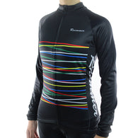 Racmmer Colored Stripes  Women's Long Sleeve Cycling Jersey in 2 Colors & 8 Sizes - Joshua Tree Depot