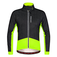 Wosawe Black Green Men's Long Sleeve Cycling Jacket in 5 Sizes - Joshua Tree Depot