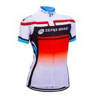 Zero Bike Red & White Women's Short Sleeve Cycling Jersey in 4 Sizes - Joshua Tree Depot