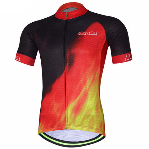Aogda Flames Men's Short Sleeve Cycling Jersey in 6 Sizes