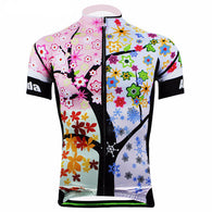 Aogda Colorful Tree Men's Short Sleeve Cycling Jersey in 6 Sizes