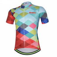 Aogda Light Pied Men's Short Sleeve Cycling Jersey in 6 Sizes