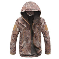 ReFire Gear Khaki Snake Lurker Shark Soft Shell Hooded Tactical Jacket in 8 Sizes - Joshua Tree Depot