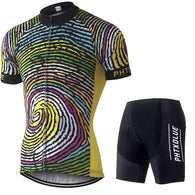 Men's Short Sleeve Cycling Jersey & Pants Set in 8 Sizes