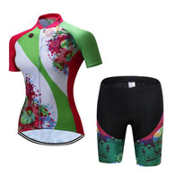 Teleyi Green Band Women's Short Sleeve Cycling Jersey & Pants Set In 6 Sizes - Joshua Tree Depot