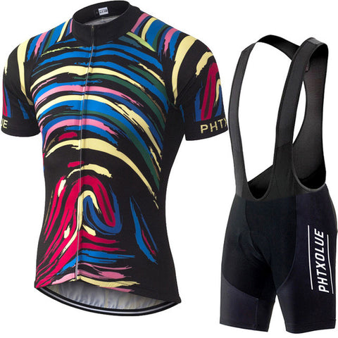 Phtxolue Men's Short Sleeve Cycling Jersey & Pants Set in 8 Sizes - Joshua Tree Depot