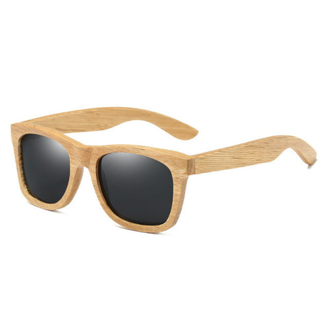 Contemporary Polarized Bamboo Wood Sunglasses in 8 Colors