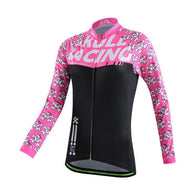 Cheji Skull Racing Women's Long Sleeve Cycling Jersey in 5 Sizes - Joshua Tree Depot