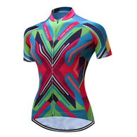 Teleyi Chevron Women's Short Sleeve Cycling Jersey in 6 Sizes - Joshua Tree Depot