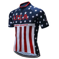 Teleyi USA Sports Men's Short Sleeve Cycling Jersey in 8 Sizes