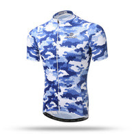 Xintown Blue Digital Men's Short Sleeve Cycling Jersey in 6 Sizes