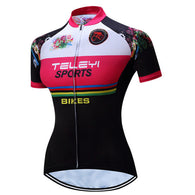 Teleyi Sports Women's Short Sleeve Cycling Jersey in 6 Sizes - Joshua Tree Depot