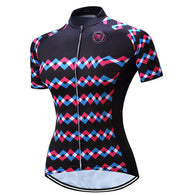 Teleyi Waves On Black Women's Short Sleeve Cycling Jersey in 6 Sizes - Joshua Tree Depot