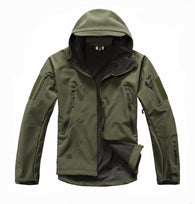 ReFire Gear Army Green Lurker Shark Soft Shell Hooded Tactical Jacket in 8 Sizes - Joshua Tree Depot