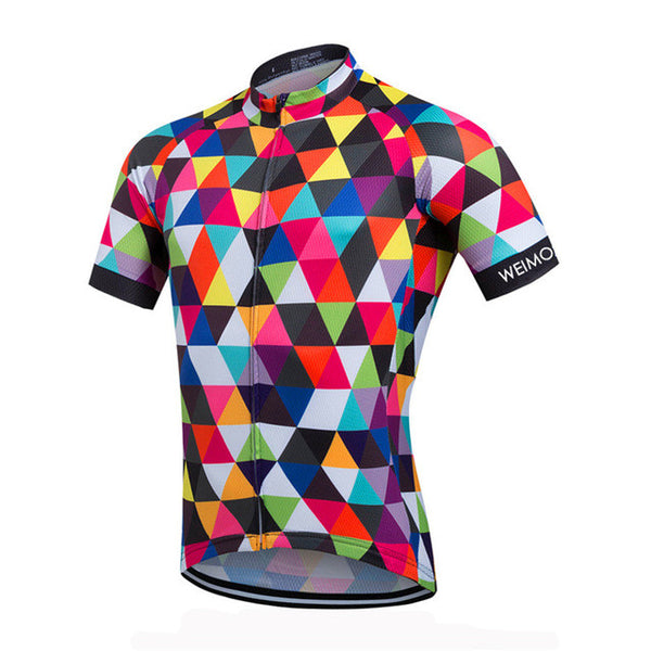 Weimostar Pied Short Sleeve Cycling Jersey in 8 Sizes