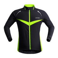 Wosawe Green Chevron Men's Long Sleeve Cycling Jacket in 5 Sizes - Joshua Tree Depot