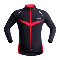 Wosawe Red Chevron Men's Long Sleeve Cycling Jacket in 5 Sizes - Joshua Tree Depot