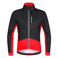 Wosawe Black Red Men's Long Sleeve Cycling Jacket in 5 Sizes - Joshua Tree Depot