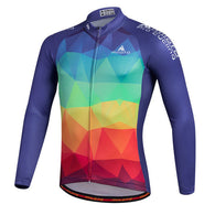 Miloto Pied Men's Long Sleeve Cycling Jersey in 6 Sizes