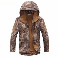 ReFire Gear Brown Snake Lurker Shark Soft Shell Hooded Tactical Jacket in 8 Sizes - Joshua Tree Depot