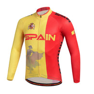 Miloto Spain Men's Long Sleeve Cycling Jersey in 6 Sizes - Joshua Tree Depot