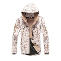 ReFire Gear Dessert Camo Lurker Shark Soft Shell Hooded Tactical Jacket in 8 Sizes - Joshua Tree Depot