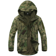 ReFire Gear Green Camo Lurker Shark Soft Shell Hooded Tactical Jacket in 8 Sizes - Joshua Tree Depot