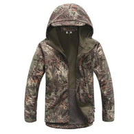 ReFire Gear Green Snake Lurker Shark Soft Shell Hooded Tactical Jacket in 8 Sizes - Joshua Tree Depot