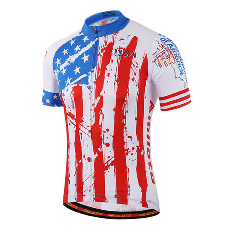 Miloto USA Men's Short Sleeve Cycling Jersey in 6 Sizes - Joshua Tree Depot