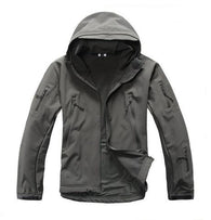 ReFire Gear Gray Lurker Shark Soft Shell Hooded Tactical Jacket in 8 Sizes - Joshua Tree Depot