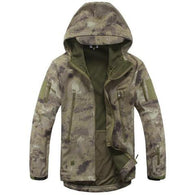 ReFire Gear Khaki Camo Lurker Shark Soft Shell Hooded Tactical Jacket in 8 Sizes - Joshua Tree Depot