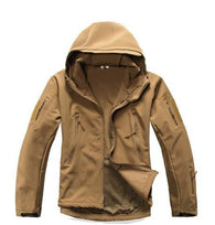 ReFire Gear Khaki Lurker Shark Soft Shell Hooded Tactical Jacket in 8 Sizes - Joshua Tree Depot