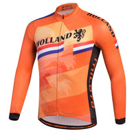 Miloto Holland Men's Long Sleeve Cycling Jersey in 6 Sizes